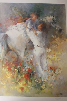 Willem Haenraets Couple On Horse Garden Limited Edition Low Number 83 of 1950