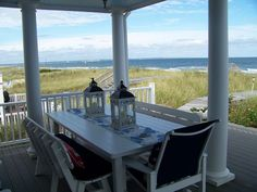 Bella Mare is a newly built, four season, oceanfront beach house located on a private beach in historic Sandwich. Queen-size bed in the master bedroom with sitting area and a cozy Vermont gas stove for the chilly ...