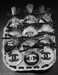Cookies I got made for my sister's bridal shower: Elegant Chanel Cookies