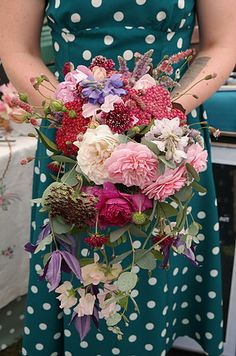 July   Roses, wild carrot, sweet peas, clematis, Macedonian knautia, delphiniums   Most Curious Rose   Vintage Wedding Flowers Vintage Wedding Flowers, Bridal Flowers, Rose Wedding, Bridal Bouquets, Summer Wedding, Bridesmaid Bouquet, Bridesmaids, Delphiniums, Sweet Peas