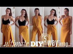 Ultimate DIY Wrap | 1 Piece 5 Ways     The BEST piece to travel with!