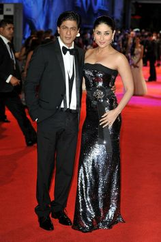 """Shahrukh Khan and Kareena Kapoor - The UK Premiere of """"Ra.One"""" at Cineworld O2 Arena in Greenwich.Source: Bauer Griffin"""