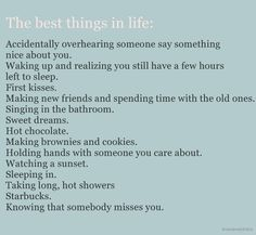 The Best things in life: