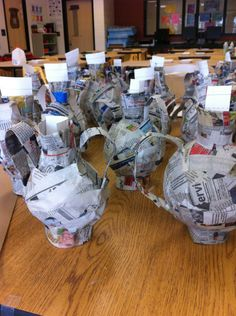 These paper mache Greek vases are one of my all-time favorite sculpture lessons! We started the lesson by looking at and discussing Greek art and design elements, which of course involved watching …
