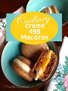 Cadbury Creme Egg French Macaron | triedandtwisted.blogspot.com