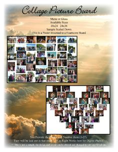 Funeral or Memorial Collage Boards