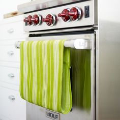 No-Slip Dish Towels - keep towel from slipping off oven door