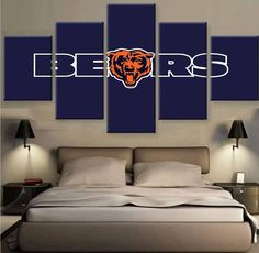 BEARS FANS - HQ 5-PIECE ART CANVAS PRINT  #prints #printable #painting #canvas #empireprints #teepeat