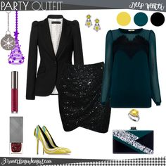 Lovely family Christmas party outfit for Deep Winter seasonal color women