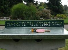 Stone Age Concrete Table Tennis Tables  for the garden