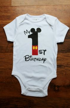 My First Birthday Mickey theme by ButtonsandBottoms on Etsy, $15.00