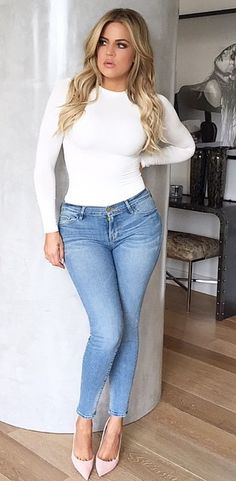 Great example of someone who is a healthy weight. She does not have a thigh gap and is still as beautiful! Love her style!