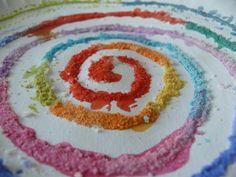 Mindful Sand Mandalas by herewearetogether, via Flickr