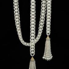 double sautoir with tassels , by Marina J Más Seed Bead Jewelry, Bead Jewellery, Pearl Jewelry, Wedding Jewelry, Jewelry Necklaces, Beaded Bracelets, Pearl Necklaces, Seed Beads, Jewlery