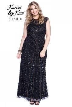 0b03c90114c Kurves By Kimy Style 3538X View  1 Black Sequin Dress