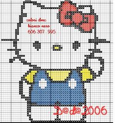 The Best Cross Stitch Patterns of Hello Kitty – Part One – Embroidery and Arts Creatives