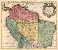 Carte de la Terre Ferme, du Perou, du Bresil, et du Pays des Amazones - Covens & Mortier, 1720-41