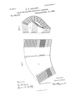 1888 Patent US389376 - CHART FOR DRAFTING SLEEVES OF GARMENTS - Google Patents