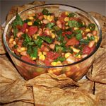 Chipotle Corn Salsa and Baked Tortilla Chips