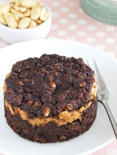 Buckeye Brownie Baked Oatmeal | The Breakfast Drama Queen