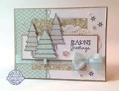 Handmade card by Sandy using the Holiday Greetings set from Verve. #vervestamps