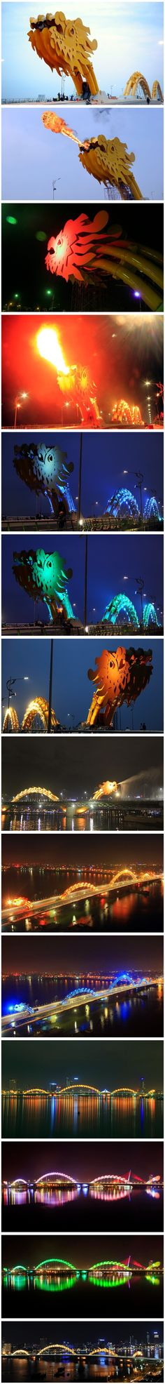 Fire breathing dragon bridge, DaNang.