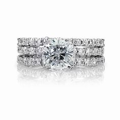Emitations Angitas Cushion Cut CZ Wedding Ring Trio Set $116 | More here: http://mylusciouslife.com/photo-galleries/bling-fling/