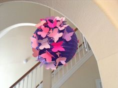 8 Mixed Berries paper lantern butterfly lantern by New8eginnings