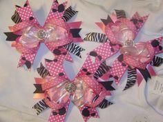 Minnie mouse boutique bows $6 each