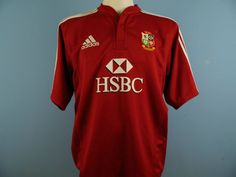 BRITISH LIONS RUGBY SHIRT 2009 SIZE L LARGE SOUTH AFRICA TOUR ADIDAS