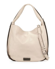 MARC by Marc Jacobs New Q Zippers Hillier Hobo Bag, Papyrus