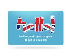 English teacher business card - Shonen