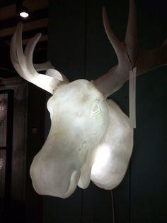 Love the glowing moose head