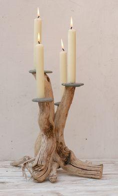 Driftwood Candle holder,Driftwood Candelabra,Dr... - Folksy