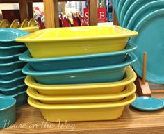 turquoise and sunflower ~ Fiesta Dinnerware - House on the Way