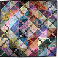 Bermuda Sunrise Quilt Pattern - a batik stashbuster... if I bust my batik stash, I'd just have to buy more....