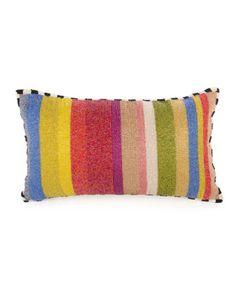 Cutting Garden Striped Lumbar Pillow by MacKenzie-Childs at Neiman Marcus.