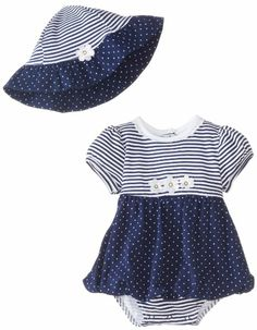 Little Me Baby-Girls Newborn Daisy Fun Popover and Hat