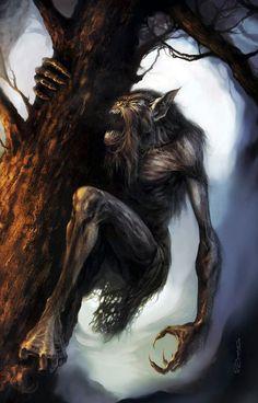"""Werewolf"" by PaulCZero9 on DeviantArt Alien Creatures, Creatures Of The Night, Fantasy Creatures, Mythical Creatures, Dark Fantasy Art, Dark Art, Fantasy Artwork, Aliens, Apocalypse"