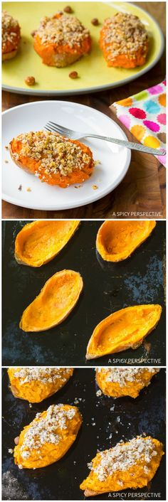 Creamy Twice Baked Sweet Potatoes with Bourbon and Hazelnuts on ASpicyPerspective.com #thanksgiving