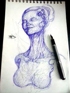 Tinta sobre papel. Temas diversos Autor: Efraín Cordero.