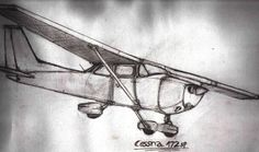 cessna by Zarkwebic on DeviantArt Dad Tattoos, Body Art Tattoos, Cool Tattoos, Aviation Tattoo, Airplane Quilt, Cessna 150, Airplane Tattoos, Drawing Sketches, Drawings