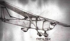 cessna by Zarkwebic on DeviantArt Dad Tattoos, S Tattoo, Body Art Tattoos, Cool Tattoos, Tatoos, Aviation Tattoo, Airplane Quilt, Cessna 150, Plane Drawing