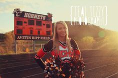 teal tizzy photography, girl, senior, photo, picture, orange, black, cheerleading, cheer, football, pose, girl, lady, happy, outdoor, fall, natural lighting