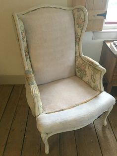 how to reupholster a wing chair