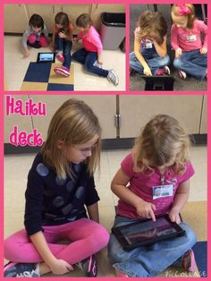 """""""We enjoyed working on one of our favorite apps- @HaikuDeck with @ges_MrsCooney kindergarten class! #ges_MrsB"""""""