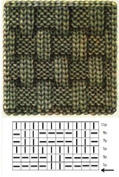 Knitted basket weave pattern