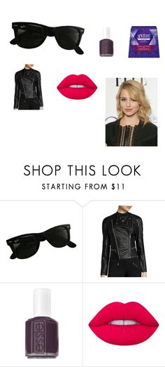"""""""Untitled #683"""" by samanthasclosetxx ❤ liked on Polyvore featuring Ray-Ban, Decree, Essie and Lime Crime"""