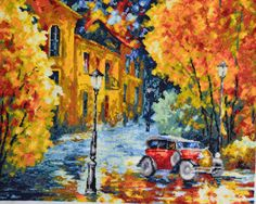 Embroidered picture Autumn Marathon by DominikaSamara on Etsy