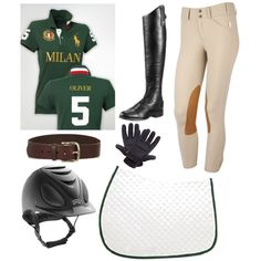 Hunter Green Riding Outfit